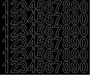 Cyfry samoprzylepne 3 cm czarny matowy