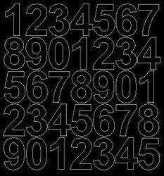 Cyfry samoprzylepne 4 cm czarny matowy