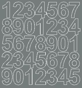 Cyfry samoprzylepne 4 cm szary matowy