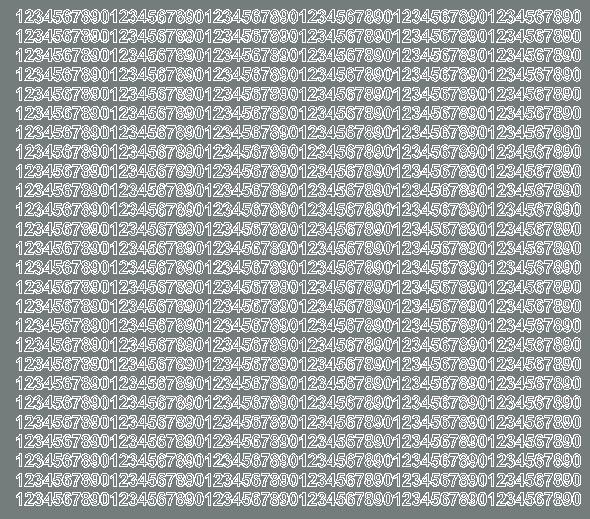 Cyfry samoprzylepne 5 milimetrów szary matowy