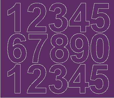 Cyfry samoprzylepne 6 cm fioletowy z połyskiem