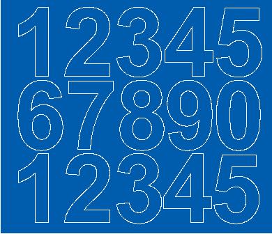 Cyfry samoprzylepne 6 cm niebieski z połyskiem