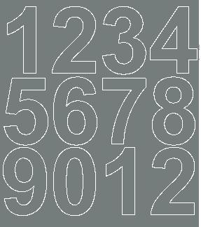 Cyfry samoprzylepne 7 cm szary z połyskiem