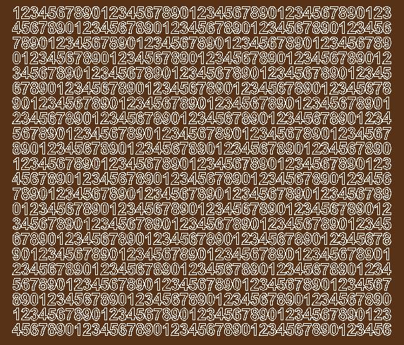Cyfry samoprzylepne 7 milimetrów brązowy z połyskiem