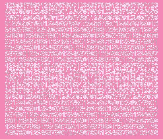 Cyfry samoprzylepne 7 milimetrów różowy z połyskiem
