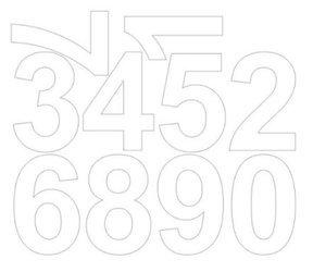 Cyfry samoprzylepne 8 cm biały matowy