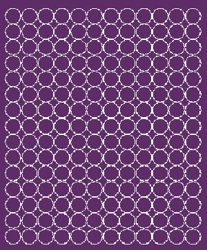 Koła grochy samoprzylepne 1.5 cm fioletowy z połyskiem 180 szt