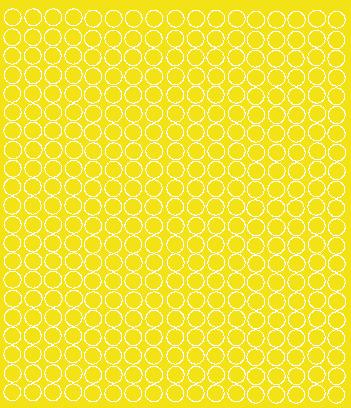 Koła grochy samoprzylepne 1 cm żółty z połyskiem 357 szt