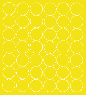 Koła grochy samoprzylepne 3 cm żółty z połyskiem 42szt