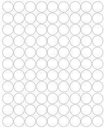 Koła grochy samoprzylepne 4 cm biały matowy 99 szt