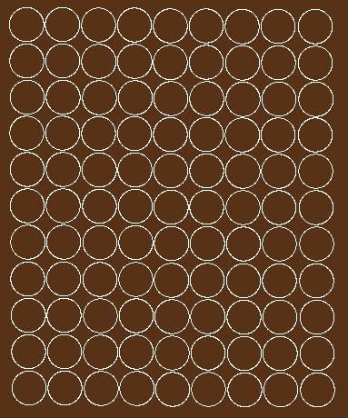Koła grochy samoprzylepne 4 cm brązowy z połyskiem 99 szt