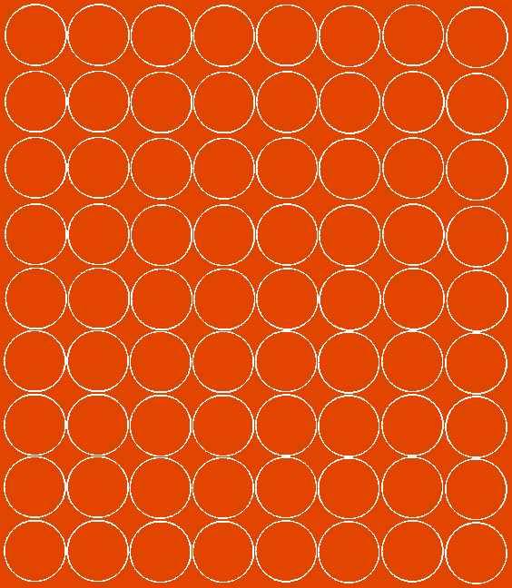 Koła grochy samoprzylepne 5 cm pomarańczowy z połyskiem 72 szt