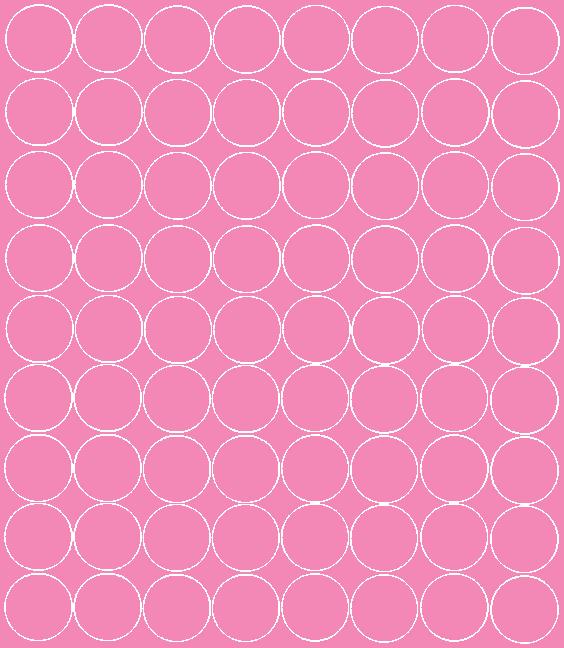 Koła grochy samoprzylepne 5 cm różowy z połyskiem 72 szt