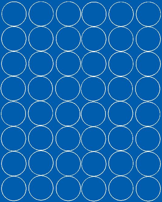 Koła grochy samoprzylepne 6 cm niebieski matowy 48 szt