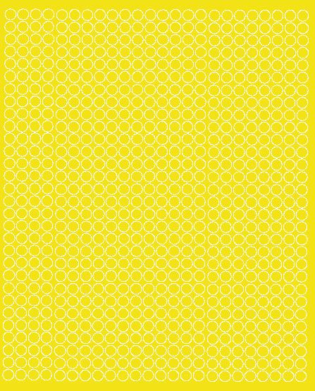 Koła grochy samoprzylepne 7 milimetrów żółty z połyskiem 720 szt