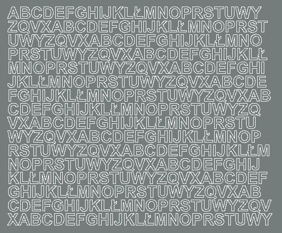 Litery samoprzylepne 1 cm szary z połyskiem