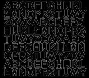 Litery samoprzylepne 2 cm czarny matowy