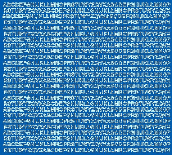 Litery samoprzylepne 5 milimetrów niebieski matowy