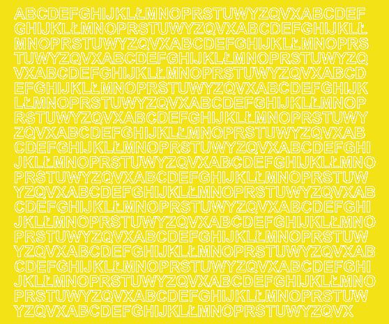 Litery samoprzylepne 7 milimetrów żółty z połyskiem