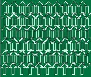 Naklejka strzałki strzałka 3x2cm 110 szt zielony matowy
