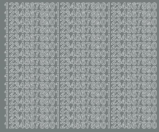 Cyfry samoprzylepne 1 cm szary z połyskiem