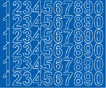 Cyfry samoprzylepne 3 cm niebieski matowy