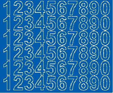 Cyfry samoprzylepne 3 cm niebieski z połyskiem