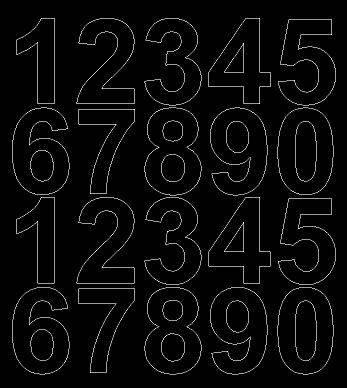 Cyfry samoprzylepne 5 cm czarne z połyskiem