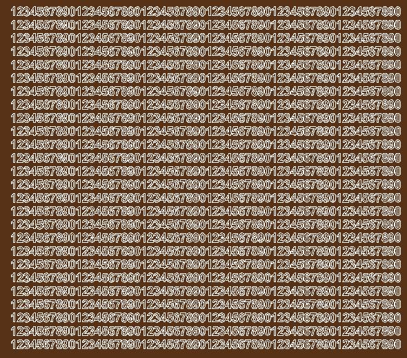 Cyfry samoprzylepne 5 milimetrów brązowy z połyskiem