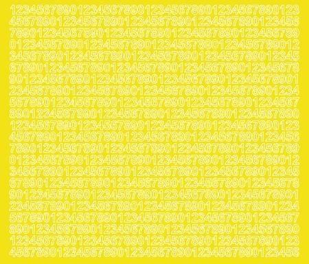 Cyfry samoprzylepne 7 milimetrów żółty z połyskiem