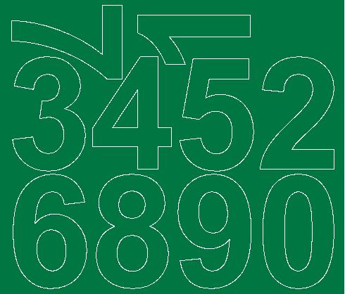 Cyfry samoprzylepne 8 cm zielone matowy