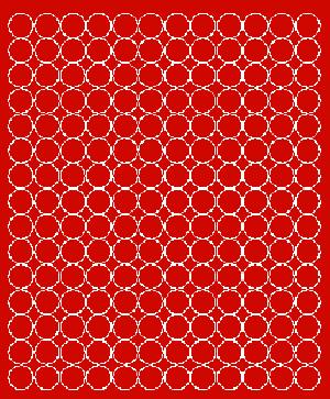 Koła grochy samoprzylepne 1.5  cm czerwone z połyskiem 180 szt