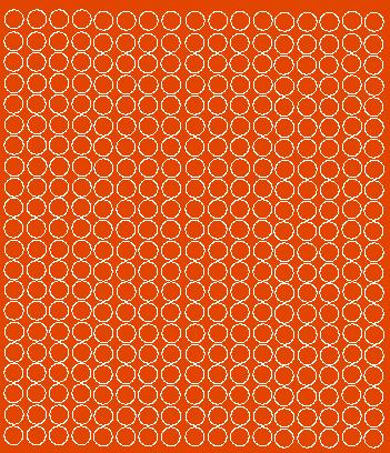 Koła grochy samoprzylepne 1 cm pomarańczowy z połyskiem 357 szt