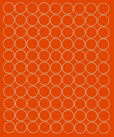 Koła grochy samoprzylepne 4 cm pomarańczowy z połyskiem 99 szt