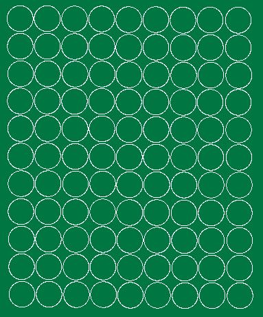 Koła grochy samoprzylepne 4 cm zielone matowy 99 szt