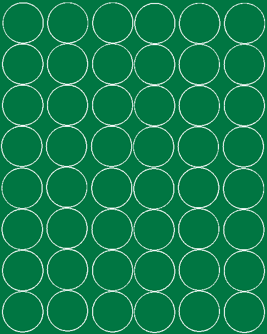Koła grochy samoprzylepne 6 cm zielone matowy 48 szt