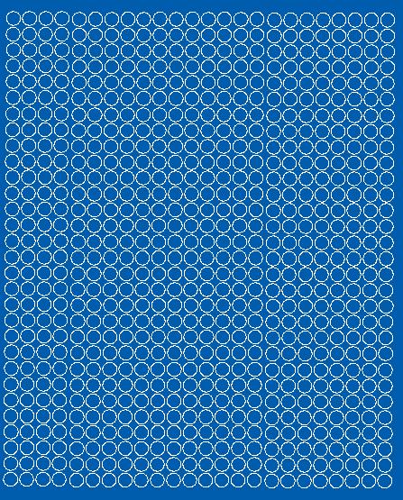 Koła grochy samoprzylepne 7 milimetrów niebieski z połyskiem 720 szt