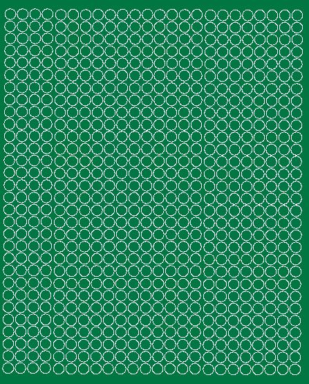 Koła grochy samoprzylepne 7 milimetrów zielone matowy 720 szt