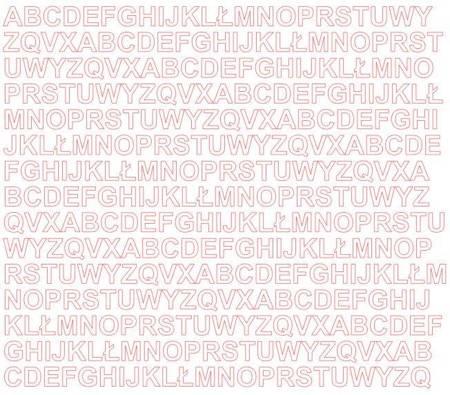 Litery samoprzylepne 1 cm biały matowy