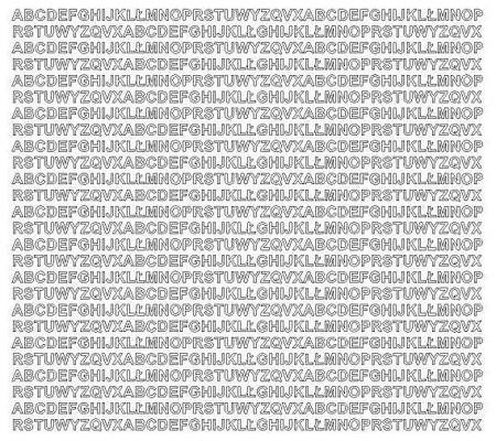 Litery samoprzylepne 5 milimetrów białe z połyskiem