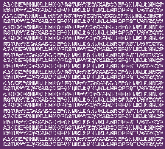 Litery samoprzylepne 5 milimetrów fioletowy z połyskiem