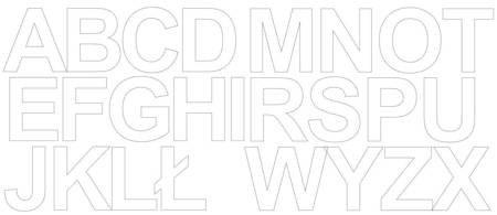 Litery samoprzylepne 6 cm białe z połyskiem